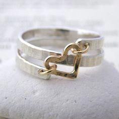 contemporary silver and gold spiral heart ring - Soremi Jewellery Ltd - yellow g. - contemporary silver and gold spiral heart ring – Soremi Jewellery Ltd – yellow gold jewelry, on - Wire Jewelry, Sterling Silver Jewelry, Gold Jewelry, Jewelry Box, Jewelry Rings, Jewelry Accessories, Jewelry Making, Gold Bracelets, Silver Earrings