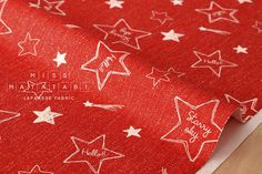 Japanese Fabric Lecien starry sky  red  50cm