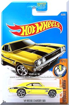 "Yellow, w/Black interior, Black & Silver Racing Stripes on Hood & Trunk. Black & Silver Stripes on Sides. Silver ""Dodge"" and Small Black Hot Wheels Logo on Rear Quarters. Black & White Mooneyes Logo on Front Fenders, Chrome Malaysia Base, w/ChrMC5's. Only $6.49 with Free Shipping!"