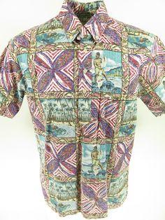 804054c4 Vintage 90s Reyn Spooner 1994 Hawaiian Shirt L Mele Kalikimaka Island Santa