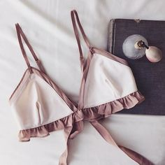 BEDTIME THINGS | Settle in for the evening in the Lucienne Triangle Bra #ForLoveandLemons