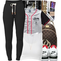 A fashion look from November 2014 featuring Helmut Lang tops, Stussy tops and Lija activewear pants. Browse and shop related looks.