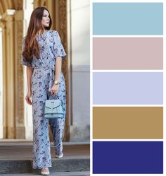 Color inspiration of the day. Leather Bags, Italian Leather, Color Inspiration, Look, Backpacks, Fashion Outfits, Spring, Blue, Colors