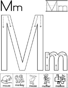 Alphabet Letter M Worksheet | Standard Block Font | Preschool Printable Activity