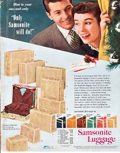 vintage_ads | Samsonite Luggage, 1950