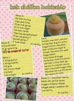 Resep Cake, Chiffon Cake, Pressure Cooker Recipes, Bento, Cake Recipes, Projects To Try, Food And Drink, Cooking Recipes, Cookies