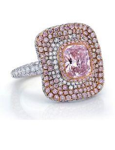 1.57 carat Cushion-Cut Pink Diamond Ring
