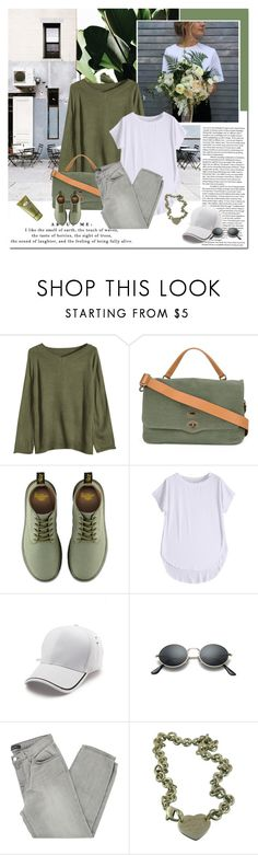 """""""Beautiful natural you"""" by undici ❤ liked on Polyvore featuring Zanellato, Dr. Martens, J Brand, Tiffany & Co. and Origins"""