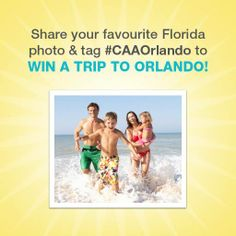 You could win a Trip for Four to Orlando with CAA! Travel Tips, Travel Destinations, Win A Trip, Run Disney, Very Excited, Making Memories, Travel With Kids, Giveaways, Orlando