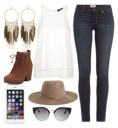 """""""Untitled #262"""" by poussinette ❤ liked on Polyvore featuring Panacea, Paige Denim, Topshop, Zimmermann, Eileen Fisher and MANGO"""