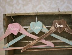 Personalized Wedding Hangers Bridesmaid Gifts SET by braggingbags