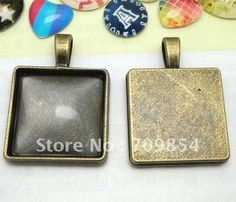 Aliexpress.com : Buy free shipping!!! 200pcs/lot 20*20mm pad Antique bronze square cabochon settings pendant trays jewelry findings from Reliable cabochon settings suppliers on Beijing Star Jewelery Co.,Ltd
