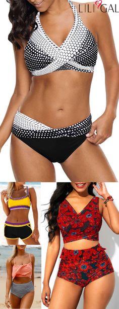 eeab56da9b21d sexy bikini swimsuits for summer vacation, high waisted bikinis, cute  bikinis, boho bikinis