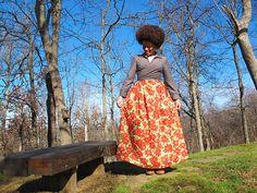 idea .... oonaballoona | Gathered Maxi Skirt | BWOF Nov 93 Wrap Shirt