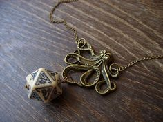 call of Cthulhu necklace D20 pendant dungeons and by MageStudio, $33.50