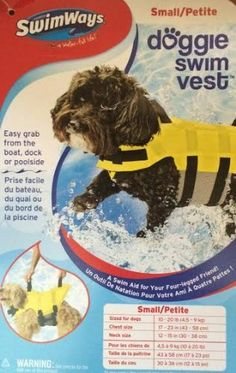Doggie Swim Vest Size Small Yellow * Find out more about the great product at the image link.