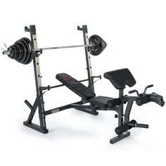 83398cc7743 Marcy Diamond Elite Olympic Weight Bench with Squat Rack with 140kg Olympic Weight  Set - 270kg