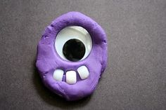 Play dough creatures with pony beads and google eyes from Pink and Green Mama.