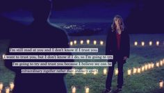 """""""I'm still mad at you and I don't know if I trust you. I want to trust you, but I don't know if I do, so I'm just going to try. I'm going to try and trust you because I believe we can be extraordinary together rather than ordinary apart.""""  -Meredith Grey"""