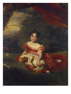 Portrait of Miss Julia Beatrice Peel Seated Full Length Wearing a Pink Dress with a Sash: Thomas Lawrence