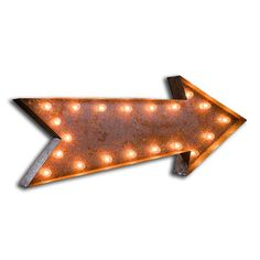 Fab.com | Arrow Marquee Light Desgined by Jerrad Green, handcrafted from rusty metal.