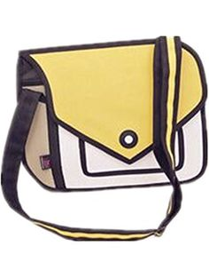 8989ae77bb5e Genius Baby 3D Style 2D Drawing Cartoon Handbag Shoulder Canvas Messenger  Bag Bow Handbags (Yellow)