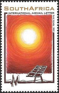 Stamp: Sun (South Africa) (Renewable Energies) Mi:ZA 1672