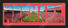 PERSONALIZE YOUR NAME with a framed small University of Louisville stadium panoramic behind your name, single matted in team colors to 27 x 9.5 inches.  $89.99 @ ArtandMore.com