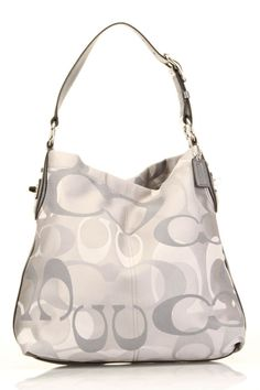 c8fb370c9e Coach Pen So. Coach Pen Optic Signature Shoulder Bag In Gray Beyond the Rack
