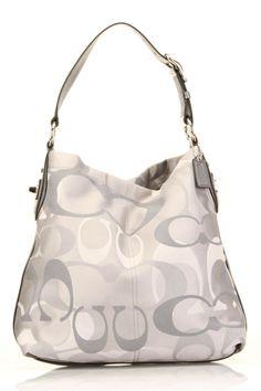 So. Cute. Coach Pen Optic Signature Shoulder Bag In Gray - Beyond the Rack