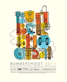 fun poster for Bumbershoot by Jesse LeDoux
