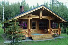 Atrium Log Homes - Elk Tine Cabin 853 sq ft. (put on a full basement for storage) Bug out cabin