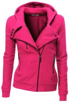 Pink comfy and cozy fleece zip-up hoodie