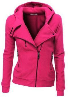 Pink comfy and cozy fleece zip-up hoodie