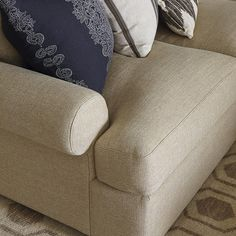 Casual Style Sutton U-Shape Sectional Sofa by Bassett Furniture. A casual style that is soft and comfortable.