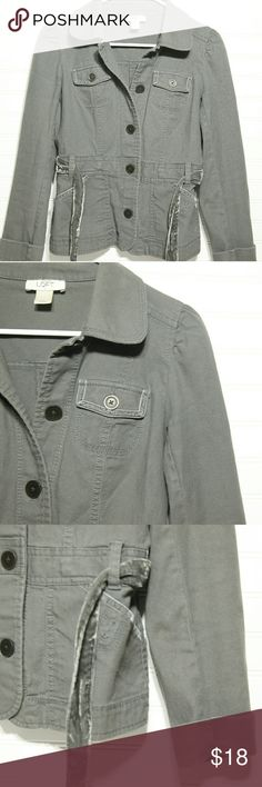 Loft Women's Army Jacket Coat Size 0 Preloved Army Jacket Greenish Grey Color Size 0. Some signs of wear! C21 LOFT Jackets & Coats Utility Jackets