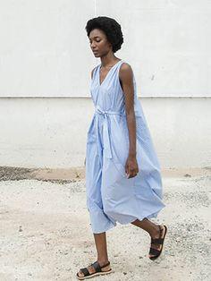 SVILU - Tank Dress - Stripe Shirting