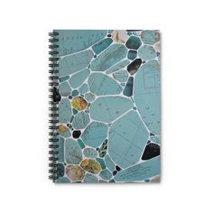 Gifts For My Girlfriend, Beautiful Notebooks, Aqua, Teal, Vintage Maps, Lined Page, Kind Words, Gel Pens, Terrazzo