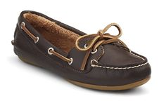 Sperry Women's Skiff Moccasin Slip On in Dark Brown