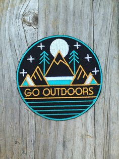 Go Outdoors Patch Vintage Embroidered Patch Mountain Patch