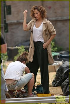 jennifer lopez supported leah remini decision to leave scientology 03 Jennifer Lopez dons a trench coat while shooting scenes for her upcoming film Shades of Blue on Tuesday (July 7) in New York City.    On the same day, the 45-year-old…