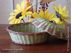 Поделка изделие Плетение Виколепие бумажного плетения Трубочки бумажные фото 16