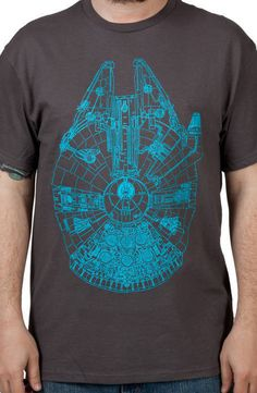 Charcoal Millenium Falcon Shirt
