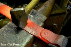 How a Froe is Made Blacksmith Tutorial- Forging the blade