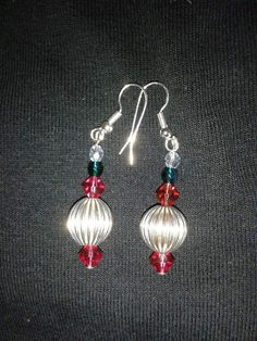 Silver plated with pink/green beads