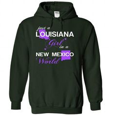 (LAJustTim002) Just A Louisana Girl In A New_Mexico Wor - #shirt style #sweater dress. CHEAP PRICE => https://www.sunfrog.com/Valentines/-28LAJustTim002-29-Just-A-Louisana-Girl-In-A-New-5FMexico-World-Forest-Hoodie.html?68278