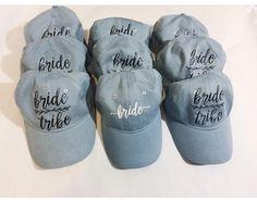 Bride Tribe Hats   Custom Hats   Bridesmaid Hats