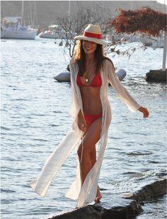 Swimsuit Cover Up ~ Kaftan, Maxi Dress, Long Sheer Cardigan Dress
