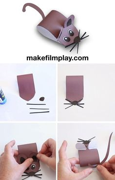 How to Make a Paper Mouse – Make Film Play I was trying to figure out how to create a story and animate this paper mouse, and my mind just went blank. So I played mouse pong instead! If you would like to make this paper mouse, you ca… Craft Projects For Kids, Paper Crafts For Kids, Craft Activities For Kids, Preschool Crafts, Paper Crafting, New Year's Crafts, Fun Crafts, Arts And Crafts, Chinese New Year Crafts For Kids