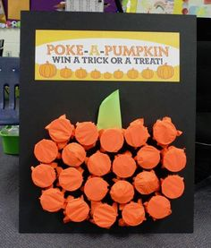Fun Halloween Party Game -- Poke-a-Pumpkin by Project Denneler {Featured on OneCreativeMommy.com | Fantastic Halloween Class Party Ideas}